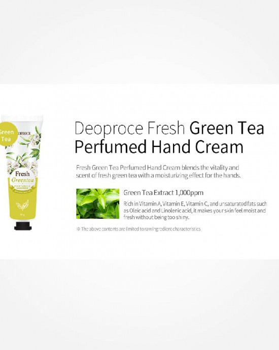 Perfumed Hand Cream Fresh Green Tea