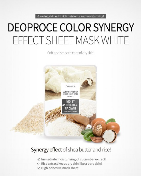 Color Synergy White Sheet Mask